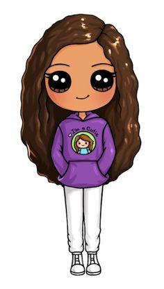 Kawaii Girl Drawings, Bff Drawings, Cute Animal Drawings Kawaii, Cute Easy Drawings, Cute Little Drawings, Cute Girl Drawing, Cartoon Drawings, Cute Kawaii Girl, Kawaii Doll