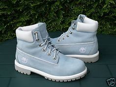 Rose Tyler (Doctor Who) baby blue Timberland boots