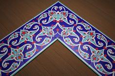 İkbal Çini   Cami Çinileri-20x20 Bordür Çini Dekor