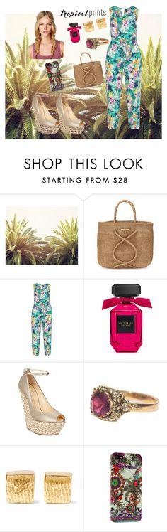 """tropical print"" by prettycarole ❤ liked on Polyvore featuring ViX, Manon Baptiste, Giuseppe Zanotti, Cornelia Webb, Desigual, tropicalprints and hottropics"