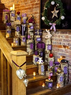 Un calendrier de l'avent en bois / a wooden advent calendar