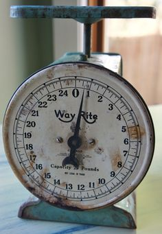Vintage Turquiose Way Rite Scale by WhimsicalPerspective on Etsy, $35.00