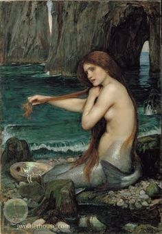 English artist John William Waterhouse painted this pensive mermaid in the 1900.