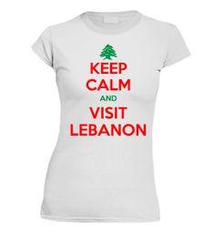 Keep Calm & Visit Lebanon T-shirt lady's
