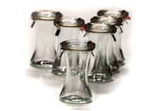 Set of 6 Weck Jars  http://buyapothecaryjars.com/weck-jars/  #weckjars #weck jars #weck-jars #apothecary #apothecaryjars #apothecary jars