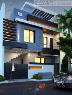 Modern Exterior House Designs, Modern Small House Design, Modern House Facades, Modern Architecture House, House Outside Design, House Front Design, Architecture Building Design, Home Building Design, 2 Storey House Design