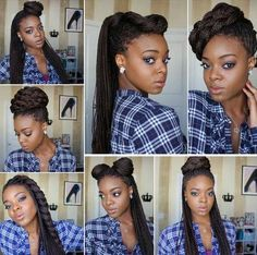 7 Different Ways to Style your Micro Braids