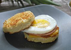 It's breakfast in a minute! Whip up Pamela's gluten-free Bread in a Cup Egg Muffin Sandwich. It is fast, easy and so delicious - the perfect grab and go hot breakfast.