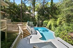 This home has it all for the large multi-generation family or two families to share for the ideal week on Hilton Head in the South Beach area. Situated only a three minute walk to the beautiful Sea Pines Ocean Front, this home has a fabulous private pool for those times when you just want to relax at home. #travel #vacationrental #itrip