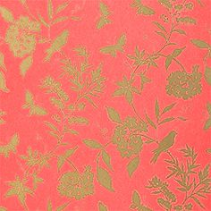 April #wallpaper in #coral from the Gatehouse collection. #Thibaut