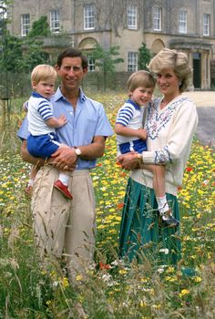 Pretty embroidery takes Diana's cream V-neck sweater up a notch. We also can't help but admire her amazing hair and Prince William's too-cute smile.  - GoodHousekeeping.com