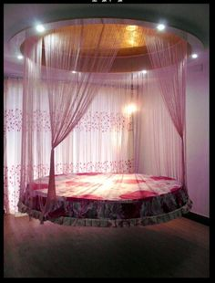 oh my god my daughter would love this. Chariweb.com floating bed!