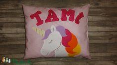 Párna unikornissal, 4 betűs névvel (LucaAgi) - Meska.hu Techno, Unicorn, Throw Pillows, Cushions, Unicorns, Decorative Pillows, Decor Pillows