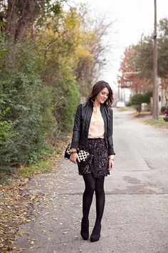 just bought a lace skirt and have the leather jacket.... next GNO outfit!
