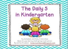KINDERWORLD: The Daily 5: my schedule and ideas