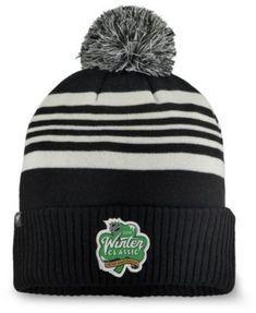 c251edc5d20 Authentic Nhl Headwear Chicago Blackhawks Winter Classic Cuffed Pom Knit Hat  - White Black Adjustable