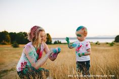 Holi Powder, I Love Mommy, Yucca Valley, Palm Springs, Family Photographer, Photo Shoot, 30th, The Past, Photography