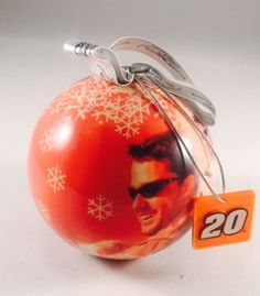 NASCAR Tony Stewart #20 Joe Gibbs Racing Ball Christmas Ornament 2002 RARE #Action #JoeGibbsRacing
