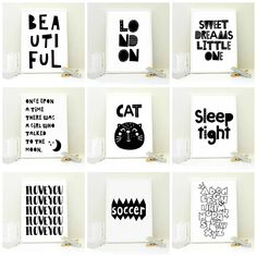 cute printable art prints for your nursery or kids room from bert and mary designs