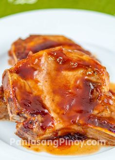 http://panlasangpinoy.com/2014/05/02/simple-baked-pork-chop-recipe/ SIMPLE BAKED PORK CHOP