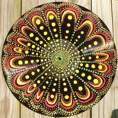 Hand Painted Record Mandala / Vinyl LP; I want this so bad!