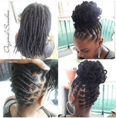 Blonde Dreads, Dreads Girl, Short Locs Hairstyles, Girl Hairstyles, Wedding Hairstyles, Dreads Styles For Women, Light Blond, Loc Updo, Hair Updo