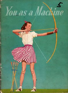 Cover by Frederick E Sayfarth for a 1955 edition of a basic science booklet by Bertha Morris Parker & M. Vintage Poster, Vintage Children's Books, Vintage Ads, Vintage Photos, Baby Cat Costume, Cat Costumes, Fish Activities, Archery Girl, Traditional Archery