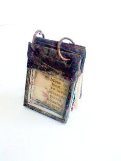 Glass Journal Tiny Journal Book Charm Book Necklace Miniature ...Mystarrs on etsy $40.00