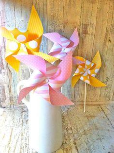 Pink lemonade party pinwheels