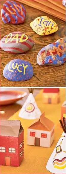 Thanksgiving Crafts For Kids /thehotkidscrafts Kids could make their house and find perimeter.