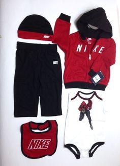 a3c4f9992 NWT Nike Jordan baby boy 3 piece set bodysuit