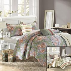 Chic Home Antica 6Piece Luxury Reversible Comforter Set with Quilt Shams and Decorative Pillows King Size Printed >>> Visit the image link more details.