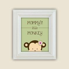 Mommy's Little Monkey Printable Peekaboo by CoriNicholsDesigns, $10.00