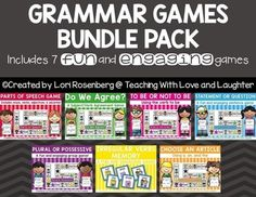 This bundle pack contains 7 grammar games that can be used all year long to help… #This! Hashtags: #MaVi #Grammar