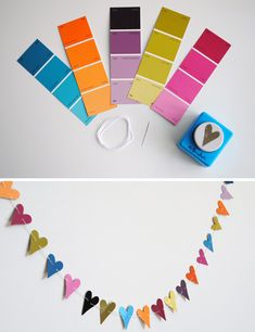 DIY color chips garland