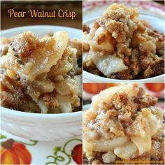 Pear Walnut Crisp
