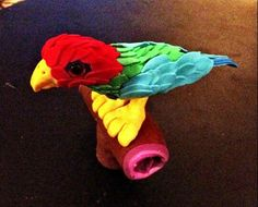 Sculpey clay parrot