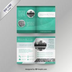 Plantilla de folleto verde Vector Gratis