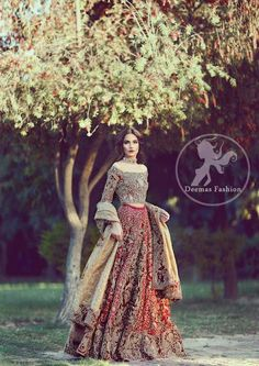 New Wedding Dresses Pakistani Bridal Lehenga Beautiful Ideas Indian Bridal Wear, Pakistani Wedding Dresses, Pakistani Outfits, Indian Dresses, Indian Outfits, Wedding Gowns, Desi Wedding, Pakistani Couture, Estilo India