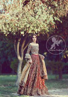 New Wedding Dresses Pakistani Bridal Lehenga Beautiful Ideas Bridal Lehenga Choli, Indian Lehenga, Indian Bridal Wear, Pakistani Wedding Dresses, Pakistani Outfits, Indian Dresses, Indian Outfits, Wedding Gowns, Pakistani Couture