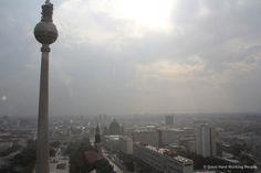 TV Tower, Berlin and the sky - Rain   --- Fernsehturm, Berlin und der Himmel - Regen  From this video: http://youtu.be/FP2Wl1ANTJ4  ---Photo from Berlin Sky Time-Lapse Shoot