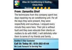 The technicians from this company spent two days repairing my air conditioning unit. For...