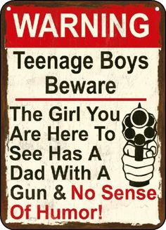 Warning Here to See My Daughter Gun Sign No Sense Polystyrene Sign Man Cave | eBay