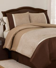 Take a look at this Taupe Safari Comforter Set by Lush Décor on #zulily today!