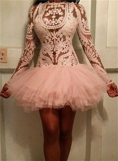 Items similar to LULU Ivory embroidery lace sheer tunic w/ full tulle tutu skirt sexy dress on Etsy Sexy Dresses, Cute Dresses, Fashion Dresses, Prom Dresses, Short Dresses, Sexy Rock, Do It Yourself Fashion, Sexy Skirt, Textiles