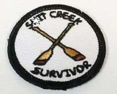 Tactical Sh*T Creek Survivor Merit Badge Product Features      2 Inch Round     Made in the USA     Velcro Backed     This Patch is A Rare Find!