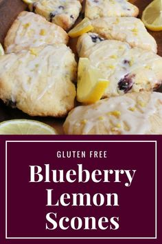 Gluten Free Blueberry Lemon Scones - Beautifully Delicious - - Scones are one of my favorite foods, and they are super simple to make. These are my Gluten Free Blueberry and Lemon Scones. Scones Sans Gluten, Dessert Sans Gluten, Gluten Free Biscuits, Gluten Free Appetizers, Gluten Free Pancakes, Gluten Free Recipes For Breakfast, Gluten Free Sweets, Lemon Recipes Gluten Free, Gluten Free Lunches