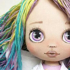 🌈Dolls From Fairytail🦄 ( Doll Face Paint, Doll Painting, Doll Crafts, Diy Doll, Ragdoll Doll, Muñeca Diy, Guys And Dolls, Bear Doll, Sewing Dolls