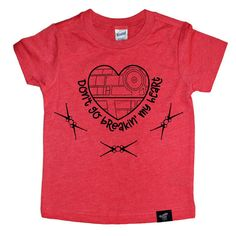BREAKIN' HEARTS RED TEE. Don't go breakin' my heart Star Wars lover tee. Perfect for Valentine's Day tee shirt for kids. Toddler style. Boy shirt. Girl Shirt. #shopsmall #valentinesday #starwars
