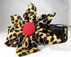 Kitten Collar, Breakaway Cat Collar, Animal Print Cat Collar, Brown Cat Collar, Cheetah Cat Collar, bell & collar flower or Bow tie optional